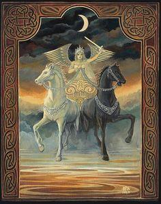 The Chariot Tarot Horse Goddess Art Original Painting Etsy : $1,000 by Emily Balivet
