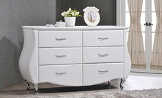Erin Modern and Contemporary Faux-Leather Upholstered Dresser