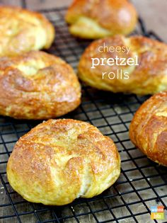 Cheesy Pretzel Bread Recipe - will be trying to make a vegan version of this with vegan cheese and energ egg replacer