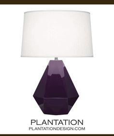 Burke Ceramic Lamp | Purple