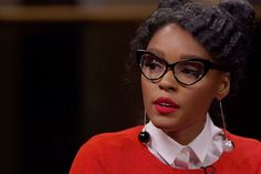 """Janelle Monae talks about playing NASA's first African-American female engineer Mary Jackson in """"Hidden Figures"""" opposite Taraji P. Henson & Octavia Spencer"""