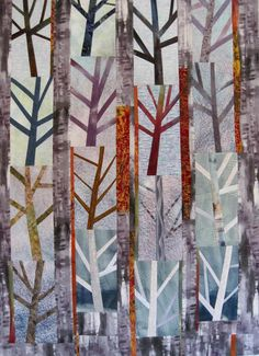 Hazy Shade of Winter 2 by The Snarky Quilter. Bloggers Quilt Festival - Spring 2015 - art quilt.