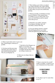 Blogging Basics Part 2 {Taking Care of Business} : a dose of pretty