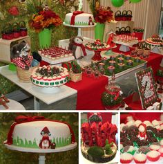 An ADORABLE Red Riding Hood Birthday Party from a very special, talent and creative mom Camille Machado. Check out all photos & details follow this link: http://www.yourthemeparty.com/#!Red-Riding-Hood-Party-Ideas/c1zcu/5797c9bb0cf26dea5b39592e #RedRidingHood #SweetTable #Candybar #Birthdayparty #PartyIdeas #Cake ---------------- Esta hermosa fiesta temática: Caperucita Roja fue compartida por una Mami súper talentosa y creativa Camille MachadoEcha un vistazo a todas las fotos & detalles