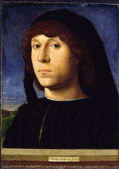 Antonello da Messina. 'Portrait of a Young Man' 1478