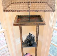 Wrought Iron Floor Lamp with Shelves, Vintage Style Vintage Style, Vintage Fashion, Floor Lamp With Shelves, Wrought Iron, Entryway Tables, Flooring, Furniture, Home Decor, Decoration Home
