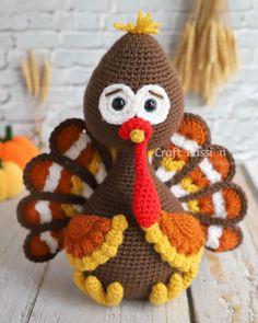 My Amigurumi Turkey Amigurumi Pattern - Free Crochet Pattern Crochet Bird Patterns, Dishcloth Knitting Patterns, Christmas Crochet Patterns, Crochet Amigurumi Free Patterns, Crochet Ornaments, Crochet Crafts, Crochet Projects, Knit Dishcloth, Crochet Snowflakes