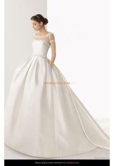 Robe de Mariée princesse avec traine manches détachables