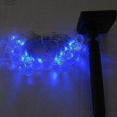 40LED Solar μπλε LED Light Fairy String Χριστουγεννιάτικο Πάρτυ – EUR € 34.03