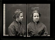 Mugshots from the 1920s: E. Courtney, 1920, arrested for theft of an umbrella.