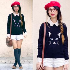 Parisian Cat Lady (by Cindy Chi) http://lookbook.nu/look/4163682-Parisian-Cat-Lady