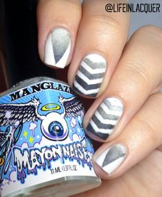 Check out this amazing design by Life In Lacquer using the V design by www.nailstickrs.com