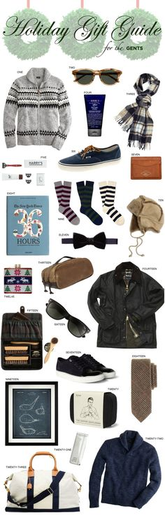 Holiday Gift Guide : For the Gents