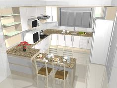 There is no question that designing a new kitchen layout for a large kitchen is much easier than for a small kitchen. A large kitchen provides a designer with adequate space to incorporate many convenient kitchen accessories such as wall ovens, raised. Kitchen Layout, Kitchen Decor, Kitchen Ideas, Interior Design Kitchen, Interior Decorating, Cuisines Design, Layout Design, Kitchen Remodel, Sweet Home