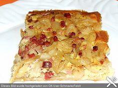 Pfälzer Zwiebelkuchen mit Blätterteig