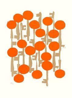 Maria Hatling The Key To Happiness Geranium Dots