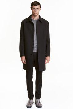 Wool-blend car coat   H&M