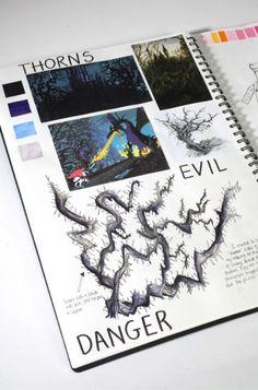 Fairytale inspired sketchbook work.
