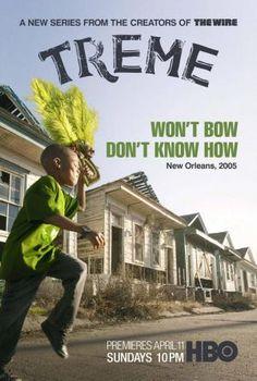 Estados Unidos (David Simon, 2010-2013). Crónica de la vida de un grupo de personas de Nueva Orleáns afectadas por el paso del huracán Katrina, que en agosto de 2005 devastó la costa de Louisiana. Treme es el nombre de un barrio bohemio de la ciudad, en el que viven numerosos músicos y que sirve de escenario a esta historia (Filmaffinity).
