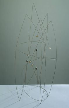 cinoh: Robert Adams, 'Space Construction with a Spiral' Modern Love, Modern Art, Contemporary Art, Mobiles, Abstract Sculpture, Sculpture Art, Sculptures Sur Fil, Kinetic Art, Art Moderne