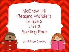 2nd Grade Reading Wonders Spelling Pack_Unit 3 $5