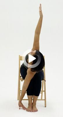 10 Yoga Poses You Can Do In A Chair Yoga Poses Yoga Poses For Two Chair Pose Yoga