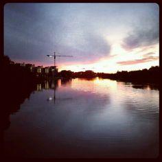 Last fall at Pori, Finland #sunset #landscape