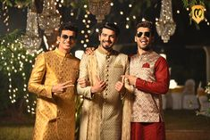 Manvyavar Outfits for The Groom and Groomsmen Stylish Makeover for The Groomsmen by Ensemble Groomsmen Outfits, Groom Outfit, Groom And Groomsmen, Groom Poses, Indian Groom, Wedding Sutra, Wedding Memorial, Groom Style, Groomsman Gifts