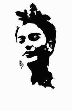Frida Art Print by thefoundandthelost Face Stencils, Stencil Painting, Foto Beatles, Art Sketches, Art Drawings, Frida Art, Mexico Art, Silhouette Clip Art, Muse Art