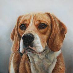 Beagle painting by Sarah Eden