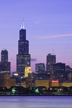 Visited a couple times back in the and rode to the top ~ what a view! One of the tallest buildings in the world. It was recently bought and renamed the Willis Tower. Chicago City, Chicago Illinois, Skyline, City Life, Willis Tower, Places Ive Been, Prints, Cityscapes, Cities