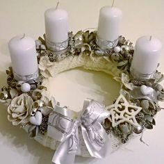DIY Christmas advent whristle white silver Diy Christmas, Advent, Winter, Home Decor, Xmas, Winter Time, Decoration Home, Room Decor, Christmas Diy