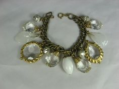 Vintage Chunky Glass Bracelet Cha Cha by TheFashionDen on Etsy, $45.00