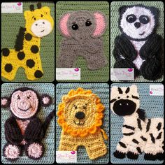 crochet animal appliques pattern