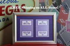 Sands Las Vegas CLOSED 5x7 No Exposure Authentic Playing Card Display by SinCityDisplays on Etsy