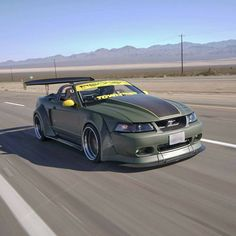 Check out this this rolling shot of CJ Customer Junior G.'s highly modified GT! Ford Mustang Parts, New Edge Mustang, 2001 Ford Mustang, Roush Mustang, Ford Mustang Shelby Cobra, Fox Body Mustang, Ford Mustang Convertible, Widebody Mustang, Muscle Cars