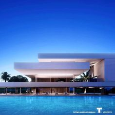 The post Adeje Luxury Villa. Design by Teotimo Architect ……. Located in Tenerife – … appeared first on . Minimalist Architecture, Modern Architecture House, Modern Buildings, Residential Architecture, Architecture Design, Modern Villa Design, Luxury Homes Dream Houses, Exterior Design, Canary Islands
