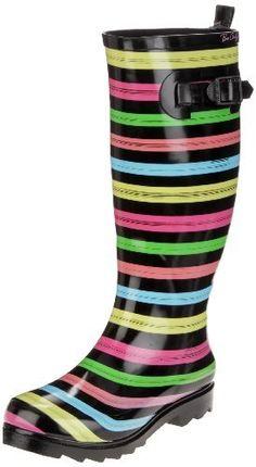 taille au choix Playshoes Bottes en caoutchouc rayures marine-rose