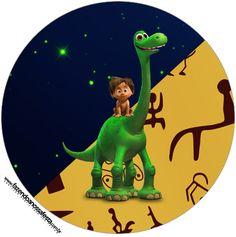 Rótulo Tubete e Toppers O Bom Dinossauro