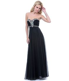 Black Strapless Rhinestone Gown 2015 Prom Dresses ** More info could be found at the image url.