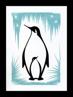 Penguin Gocco Print by Kerry Beary - 5x7 Limited Edition of 75