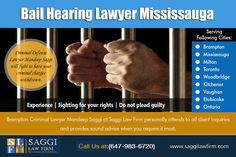 Bail & Bonds Lawyer In Mississauga Service Provider with Unparalleled Expertise at http://saggilawfirm.com/  Of course with Bail & Bonds Lawyer In Brampton provided by jails, there will always be concern of whether the defendant will appear in court, even for unintentional reasons. Our Service:  Bail Hearings Brampton Bail Hearing Lawyer Mississauga  Bail Hearing Lawyer Brampton