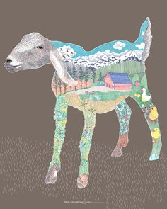 Poster from Oregon USA #goatvet collects art which feature goats