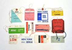 Lisa Congdon vintage baggage tag collection