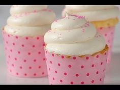 White Cupcakes Recipe Demonstration - Joyofbaking.com (+playlist)