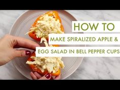 Spiralized Apple and Egg Salad in Bell Pepper Cups I Gluten Free Spiralizer Recipe - YouTube