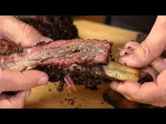 A simple recipe for Texas Beef Back Ribs, smoked on the Gator Pit offset smoker using pecan wood. Bbq Beef Ribs, Beef Back Ribs, Beef Ribs Recipe, Beef Short Ribs, Rub Recipes, Smoker Recipes, Beef Recipes, Vegan Recipes, Offset Smoker