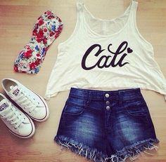 Love California & converse