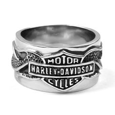 Buy more than one ring and save. Add the extra rings to your shopping cart (either the same design or any other ring from the store) and save on shipping. Polished Stainless Steel Vintage Biker Ring.