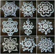 kolam with dots for beginners Indian Rangoli Designs, Rangoli Designs Latest, Simple Rangoli Designs Images, Rangoli Designs Flower, Rangoli Patterns, Rangoli Border Designs, Rangoli Ideas, Rangoli Designs With Dots, Kolam Rangoli